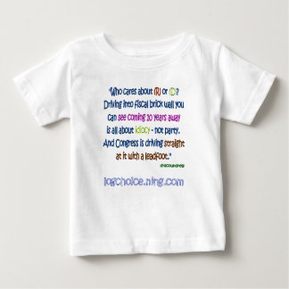 Driving into a brick wall infant t-shirt