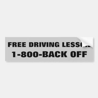 Driving Lesson Car Bumper Sticker
