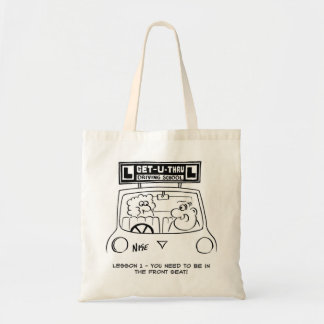 Driving Lesson - Pupil in the wrong seat Tote Bag