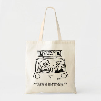 Driving Lesson - Which side of the road? Tote Bag