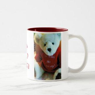 Driving Mr. Spacey! Bear -  I'm a Spacey Tweeter Two-Tone Coffee Mug
