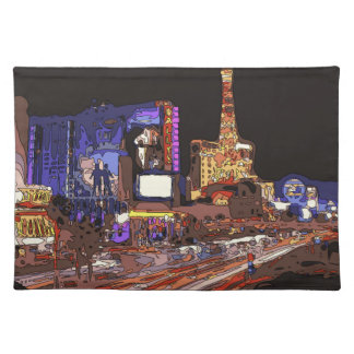 Driving on the Las Vegas Strip Place Mats