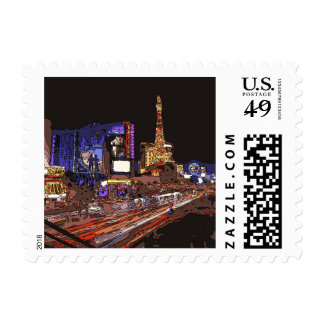 Driving on the Las Vegas Strip Stamps