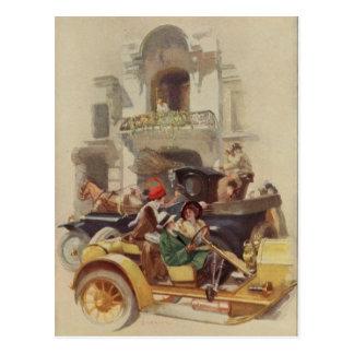 driving postcard
