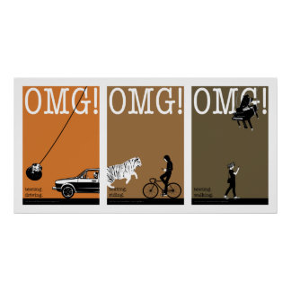 driving. riding. walking. 2 poster