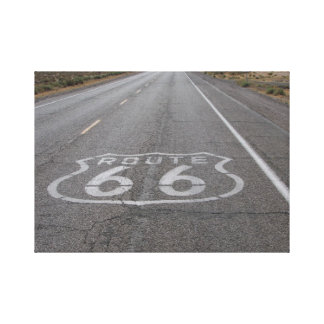 Driving Route 66 Gallery Wrapped Canvas