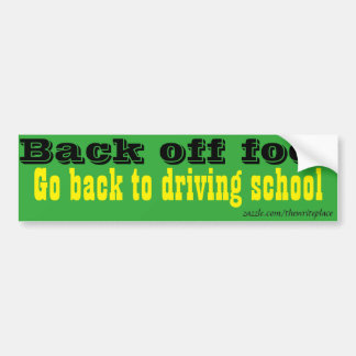 Driving school car bumper sticker