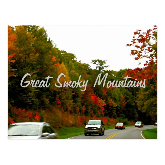 Driving the Foothills Parkway Postcard