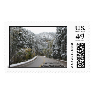 DRIVING THREW SPEARFISH CANYON POSTAGE STAMP