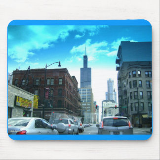 Driving Through Downtown Chicago Mouse Pad
