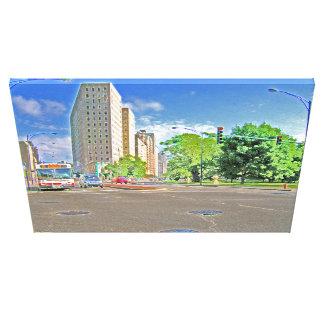Driving Through Lincoln Avenue Canvas Print