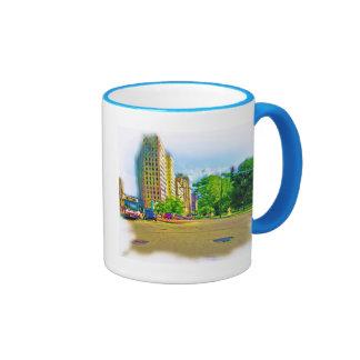 Driving Through Lincoln Avenue Ringer Coffee Mug