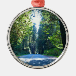 Driving Through the Forest in Crescent City Metal Ornament