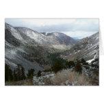 Driving Through the Snowy Sierra Nevada Mountains Card