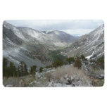 Driving Through the Snowy Sierra Nevada Mountains Floor Mat