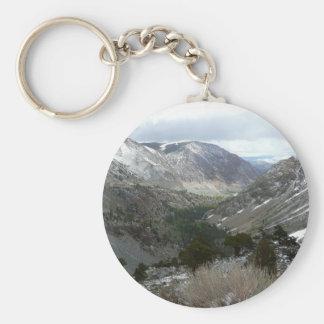 Driving Through the Snowy Sierra Nevada Mountains Keychain