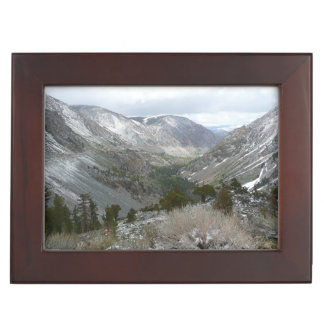 Driving Through the Snowy Sierra Nevada Mountains Memory Box