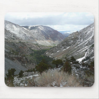 Driving Through the Snowy Sierra Nevada Mountains Mouse Pad