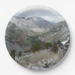 Driving Through the Snowy Sierra Nevada Mountains Paper Plate