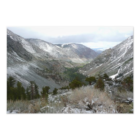 Driving Through the Snowy Sierra Nevada Mountains Photo Print