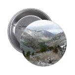 Driving Through the Snowy Sierra Nevada Mountains Pinback Button