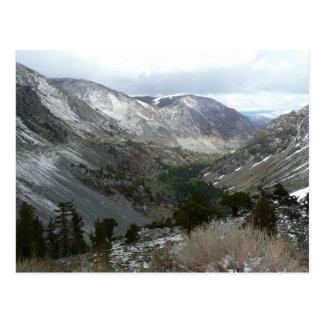 Driving Through the Snowy Sierra Nevada Mountains Postcard