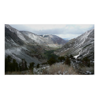 Driving Through the Snowy Sierra Nevada Mountains Poster