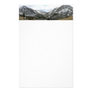 Driving Through the Snowy Sierra Nevada Mountains Stationery
