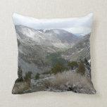 Driving Through the Snowy Sierra Nevada Mountains Throw Pillow