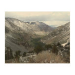 Driving Through the Snowy Sierra Nevada Mountains Wood Print