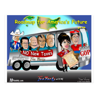 Driving USA Postcard