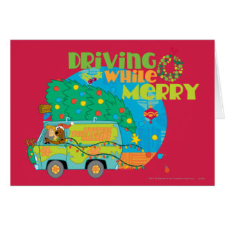 Driving While Merry 2 Greeting Card