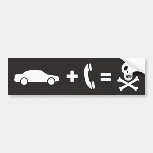 Driving While on a Cell Phone Kills Bumper Sticker