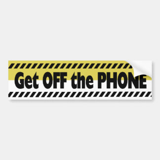 Driving with Cell Phone Car Bumper Sticker