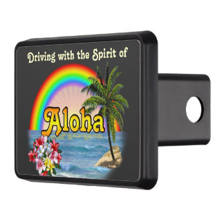 Driving with the Spirit of Aloha Trailer Hitch Cover