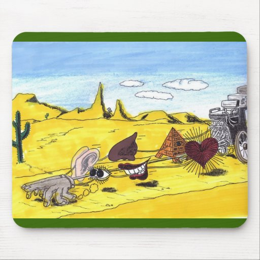 Driving Your Senses Mouse Pad