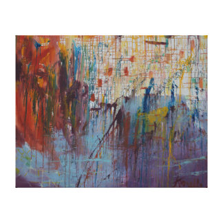 Drizzled Canvas Print
