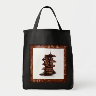Drizzled Chocolate Tote Bag