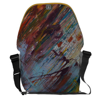 Drizzled Messenger Bag