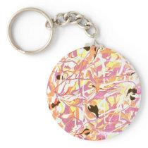 Drizzled Peach Keychain