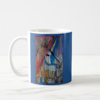 Drizzled Unicorn Painting by Avonelle Kelsey Coffee Mug
