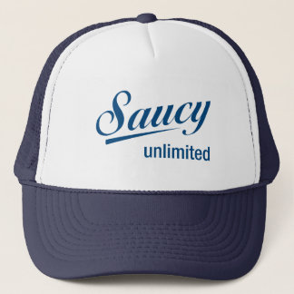 Drk blue trucker / drk blue Saucy Unlimited logo Trucker Hat