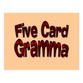Drk de Gramma de cinco tarjetas Postal