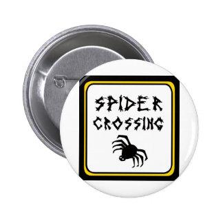 Drk de la travesía de la araña pin redondo de 2 pulgadas