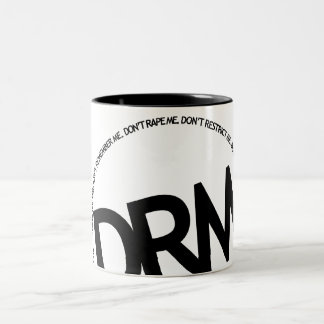 DRM: Don't Restrict Me Two-Tone Coffee Mug