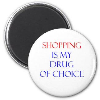 Droga de las compras de la opción imán redondo 5 cm