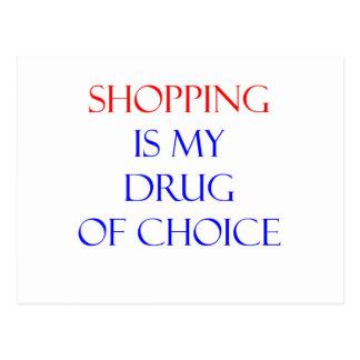 Droga de las compras de la opción postales