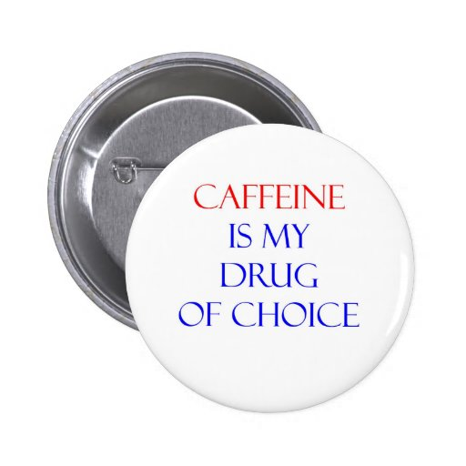 Droga del cafeína de la opción pins