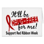 Droga-Libre para mí semana roja de la cinta Tarjetas