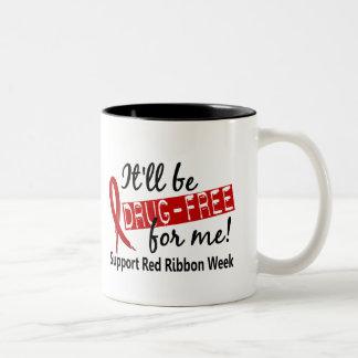 Droga-Libre para mí semana roja de la cinta Taza De Café